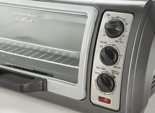 Countertop Convection Oven Reviews Consumer Reports : Hamilton Beach Easy Reach 6-Slice 31126 Toaster