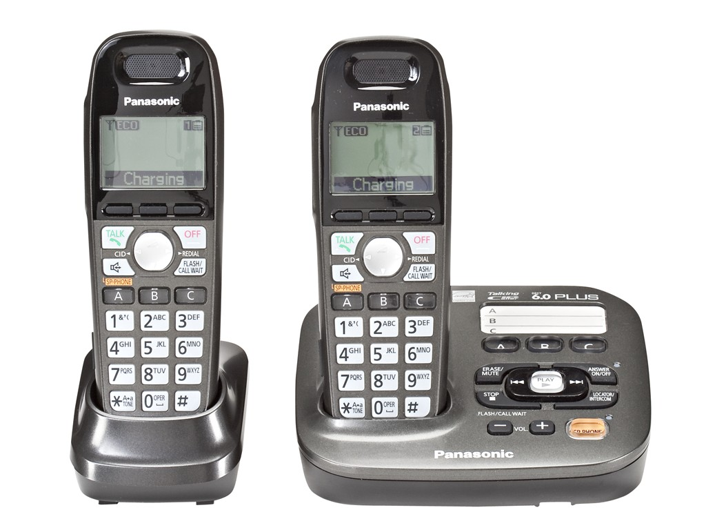 panasonic amplified cordless phone with 3 handsets cordless phones