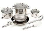 T-Fal-Performance Copper Bottom Stainless Steel 10 pc (Target)-Kitchen cookware-image