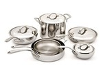 Culinary Institute of America-Masters Collection Stainless Steel 10 pc-Kitchen cookware-image