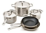 Le Creuset-Stainless Steel 8 pc-Kitchen cookware-image