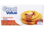 Great Value-Homestyle (Walmart)-Frozen waffle-image