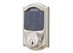 Schlage-Camelot Touchscreen Deadbolt with Alarm BE469NX CAM 619-Door lock-image