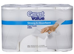 Great Value Strong Amp Absorbent Walmart Paper Towel