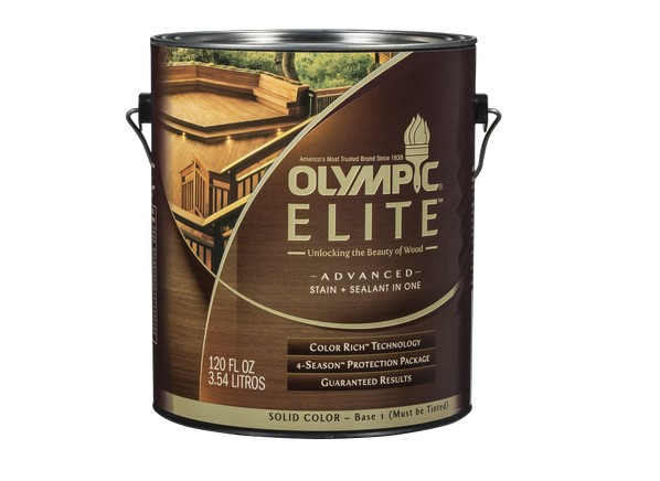 olympic elite advanced stain sealant in one solid lowe