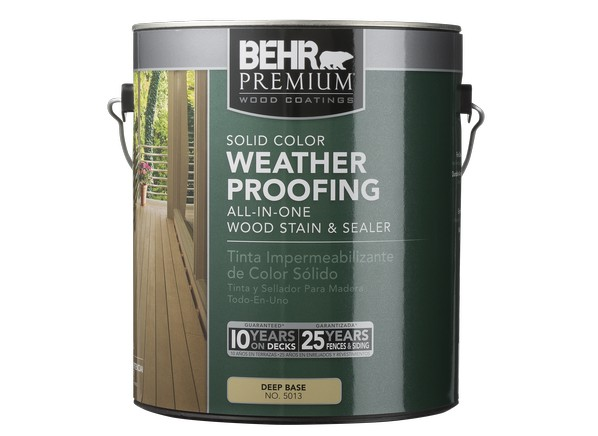 Behr Premium Solid Color Weatherproofing Wood Stain (Home