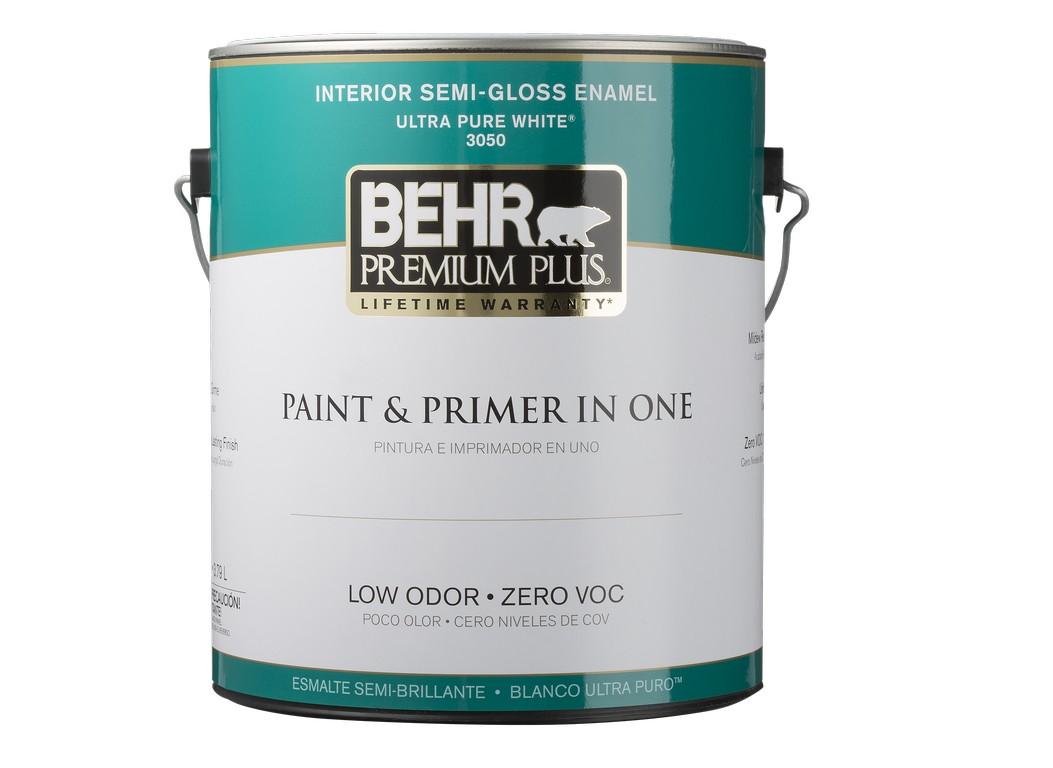 Behr Premium Plus Ultra Interior Flat Enamel Paint Primer In One